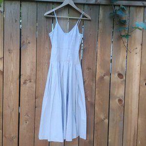 XS H&M Sky Blue Dress with Circle Skirt